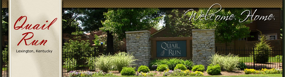 Quail Run Townhouse. A residential community in Lexington, Kentucky